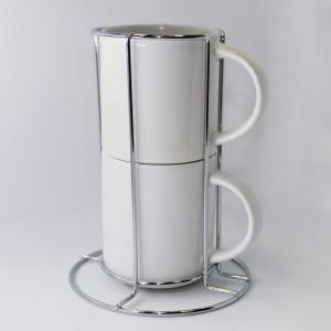 Кофейная пара в металлической подставке